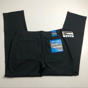 Haggar Straight Fit Black Dress Pants Mens 36x32